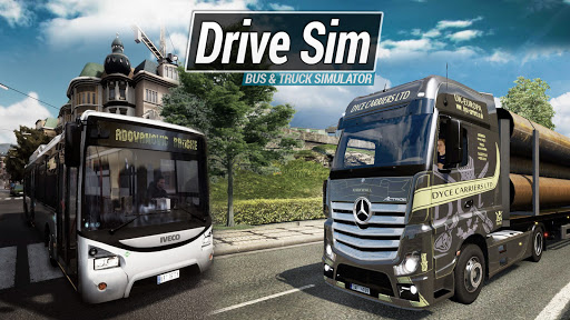 Drive Sim.Bus & Truck simulator modiapk screenshots 1