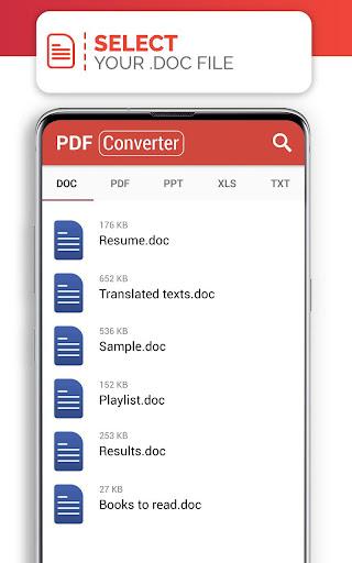 PDF Converter (doc ppt xls txt word png jpg wps) 207 Screenshots 9