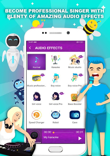 Voice changer - Music recorder with effects  Screenshots 1