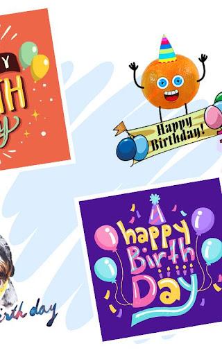 Happy Birthday Greeting Cards And GIF  screenshots 3