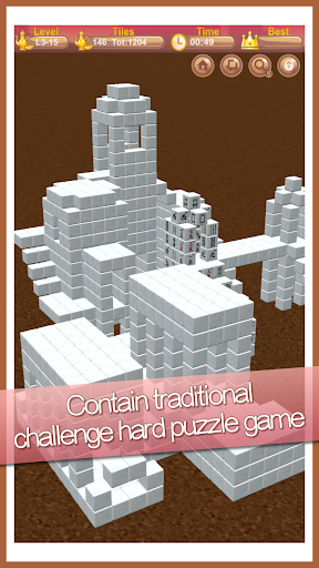 Stacker Mahjong 3D  II - Fantasy World  screenshots 5