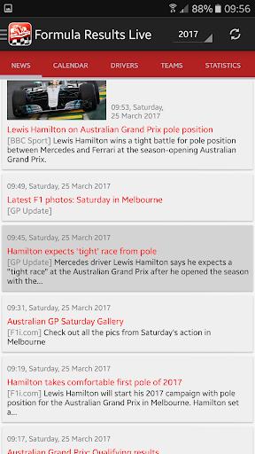 Formula Results Live  screenshots 1