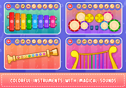 Kids Piano: Animal Sounds & musical Instruments 3