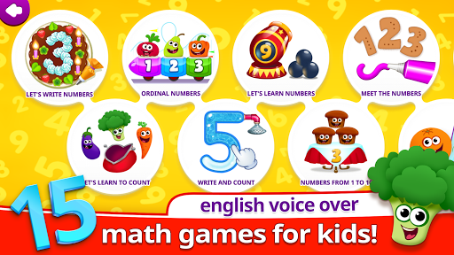 Funny Food 123! Kids Number Games for Toddlers apkmartins screenshots 1