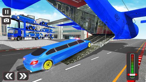 USA Police Car Transporter Games: Airplane Games apktram screenshots 10