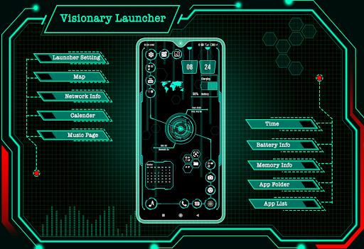 Visionary Launcher 2021 App lock, Hitech Wallpaper 27.0 Screenshots 1