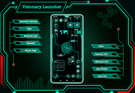 Visionary Launcher 2020 App lock, Hitech Wallpaper 26.0