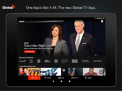 Global TV Screenshot