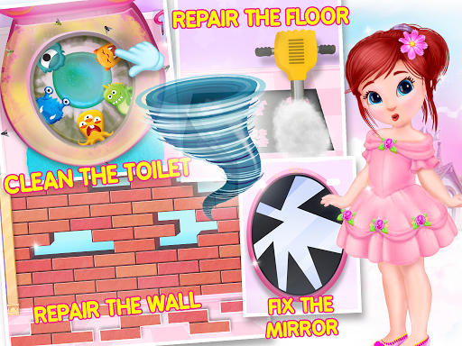 Princess House Cleanup For Girls: Keep Home Clean apkpoly screenshots 8