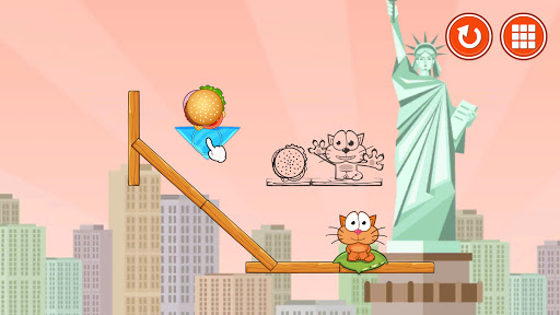 Hungry cat: physics puzzle game apkdebit screenshots 1
