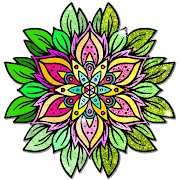 Mandala Color by Number Book - Glitter Paint Pages
