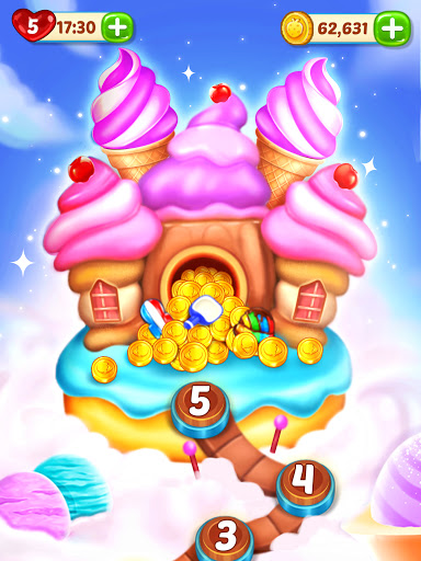 Ice Cream Paradise - Match 3 Puzzle Adventure Apkfinish screenshots 14