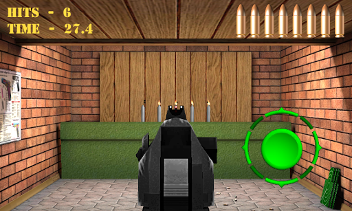 Pistol shooting at the target.  Weapon simulator 4.5 screenshots 9