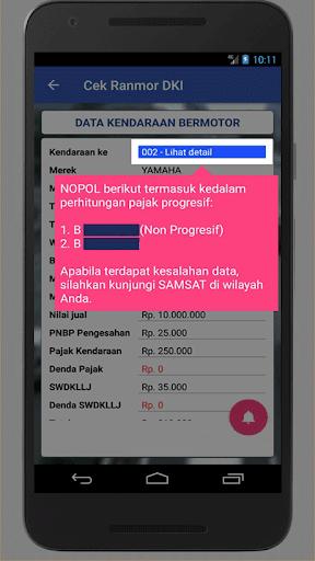 Cek Ranmor & Pajak DKI Jakarta 1.028 Screenshots 4