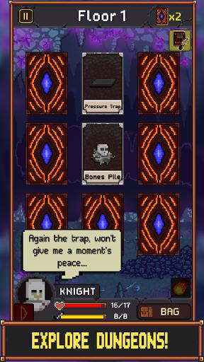 The Darkest Of Dungeons - Free Card Roguelike RPG modiapk screenshots 1