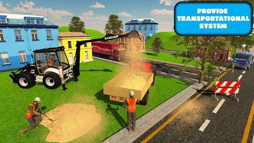 JCB Excavator Crane 2021: 3D City Construction screenshots 2