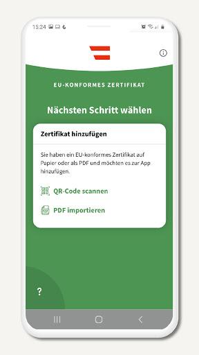 Grüner Pass screen 2