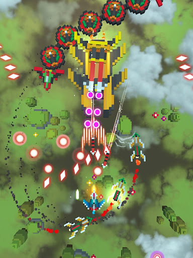 Sky Wings: Pixel Fighter 3D apktram screenshots 7