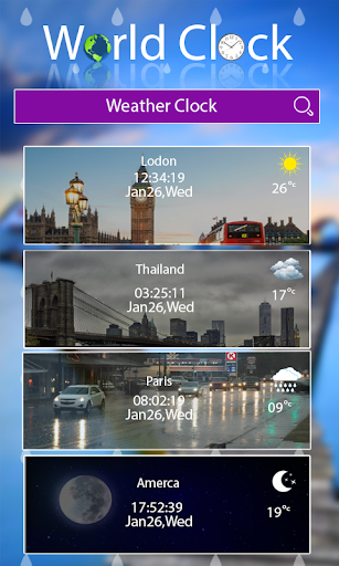 World clock widget and weather: Time of Countries  Screenshots 3