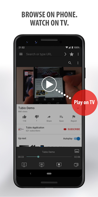 Tubio - Cast Web Videos to TV, Chromecast, Airplay  poster 1