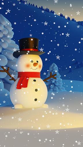 Snowman Live Wallpaper u2013 Christmas Backgrounds screenshots 1