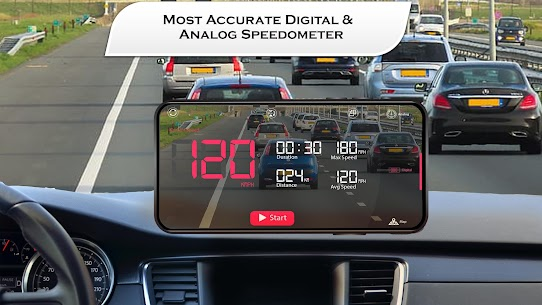 Free HUD Speedometer for Car – Compass Live Speed Meter 3