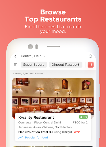 Dineout: Best Restaurant Offers, Deals & Events android2mod screenshots 2