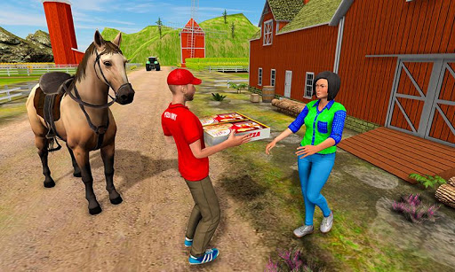 Mounted Horse Riding Pizza Guy: Food Delivery Game 1.0.3 screenshots 2