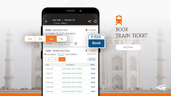 PNR Status, Train Running Status & Ticket Booking Screenshot