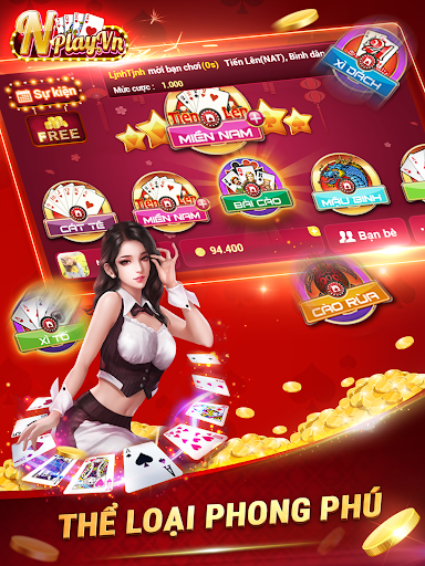 NPLAY: Game Bu00e0i Online, Tiu1ebfn Lu00ean MN, Binh, Poker.. screenshots 7