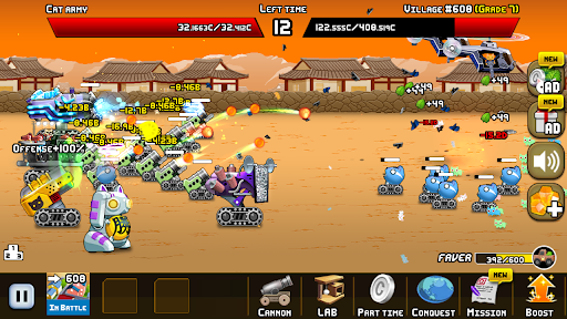 Idle Cat Cannon android2mod screenshots 3