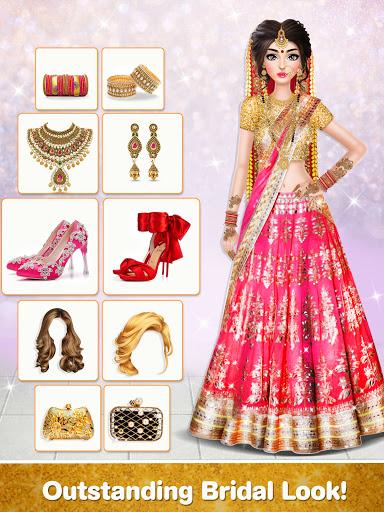 Indian Wedding Stylist - Makeup &  Dress up Games 0.17 screenshots 16