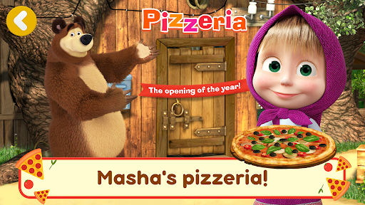 Masha and the Bear Pizzeria Game! Pizza Maker Game screenshots 1
