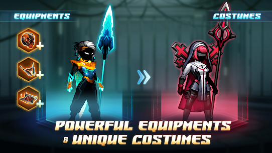 Cyber Fighters: League of Cyberpunk Stickman 2077 Apk Mod + OBB/Data for Android. 3