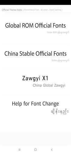 TTA Mi Official Myanmar Unicode Font 1.0.5 Screenshots 2