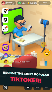 Idle Tiktoker: Get Followers and Become Celebrity Mod Apk 1.1.13 (Free Shopping) 1