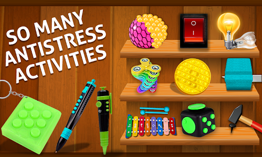 Fidget Cube 3D Antistress Toys - Calming Game modiapk screenshots 1