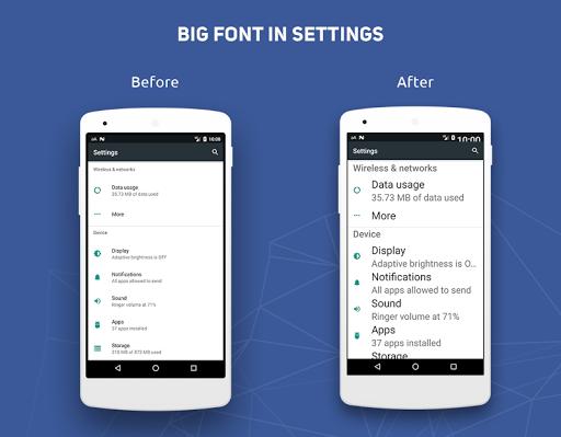 Big Font - Change Font Size & Text Size  Screenshots 5