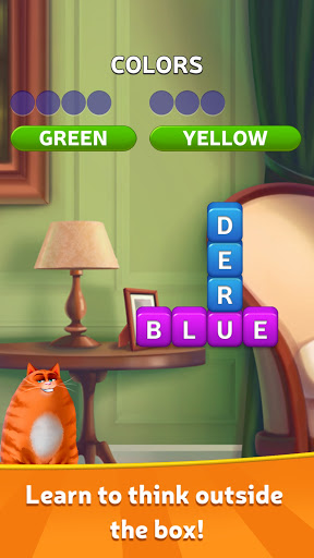 🔥Kitty Scramble: Word Stacks modiapk screenshots 1