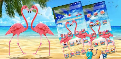 Pink Flamingo Beach Theme Apl Di Google Play