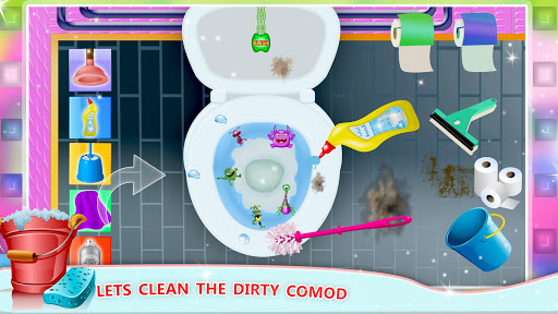 Girls House Cleaning Games– Home Mansion Clean Up apklade screenshots 2