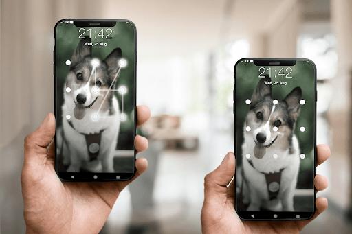 Puppy Dog Pattern Lock Screen android2mod screenshots 3