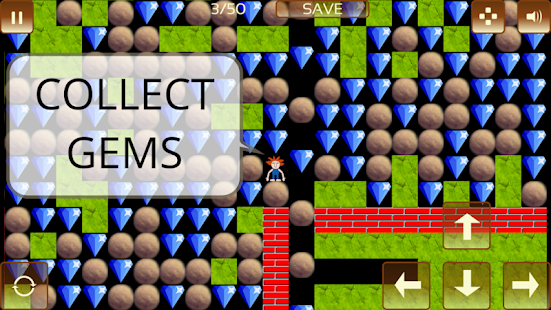The Gem Hunter: a classic rocks and diamonds game Screenshot