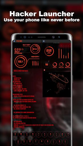 Hacker Launcher -- Aris Theme 4.2.4 Screenshots 1
