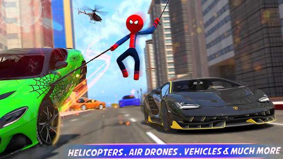 Super Stickman Rope Hero Gangster- Superhero Games 1.4 screenshots 1