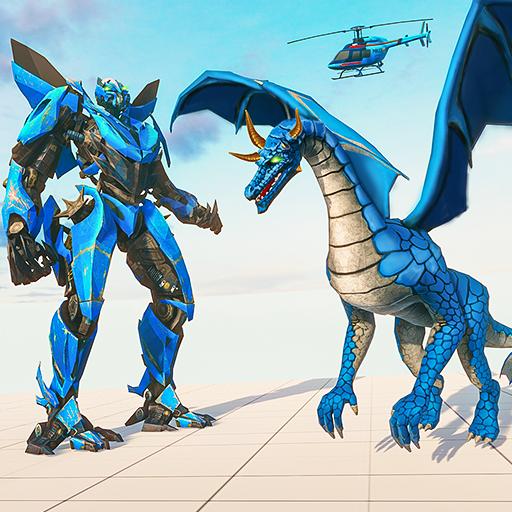 Flying Dragon Robot Transforming Dragon Games APK