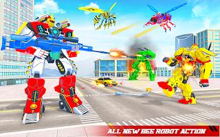 Flying Bee Robot Car Transforming Game: Robot Game