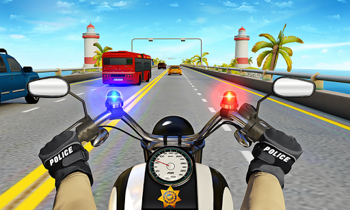 Police Moto Bike Highway Rider Traffic Racing Game  Screenshots 7