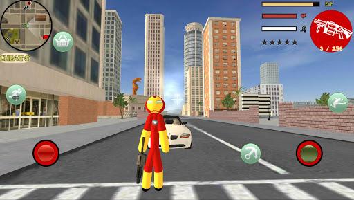 Iron Stickman Rope Hero Gangstar Crime 4.0 Screenshots 1
