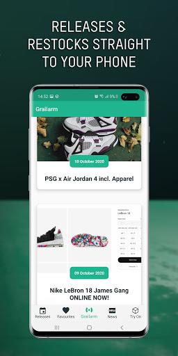 Grailify - Sneaker Release Calendar  Screenshots 3